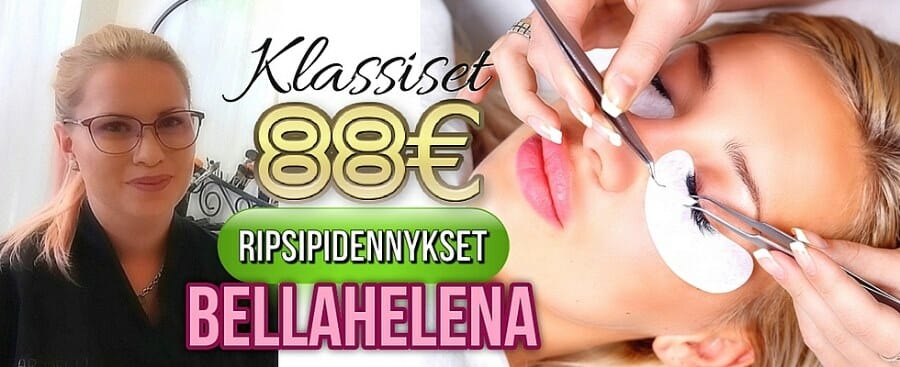 Klassiset Ripsipidennykset 88€ Kauneushoitola BellaHelena Oulu Janika Pakanen