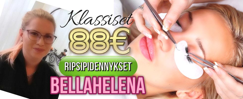 LashLovers Klassiset Ripsipidennykset 88€ Janika Pakanen Kauneushoitola BellaHelena Oulu Helena & Paris Oy Helena ja Markku Tauriainen 2017 Suomi 100 Finland