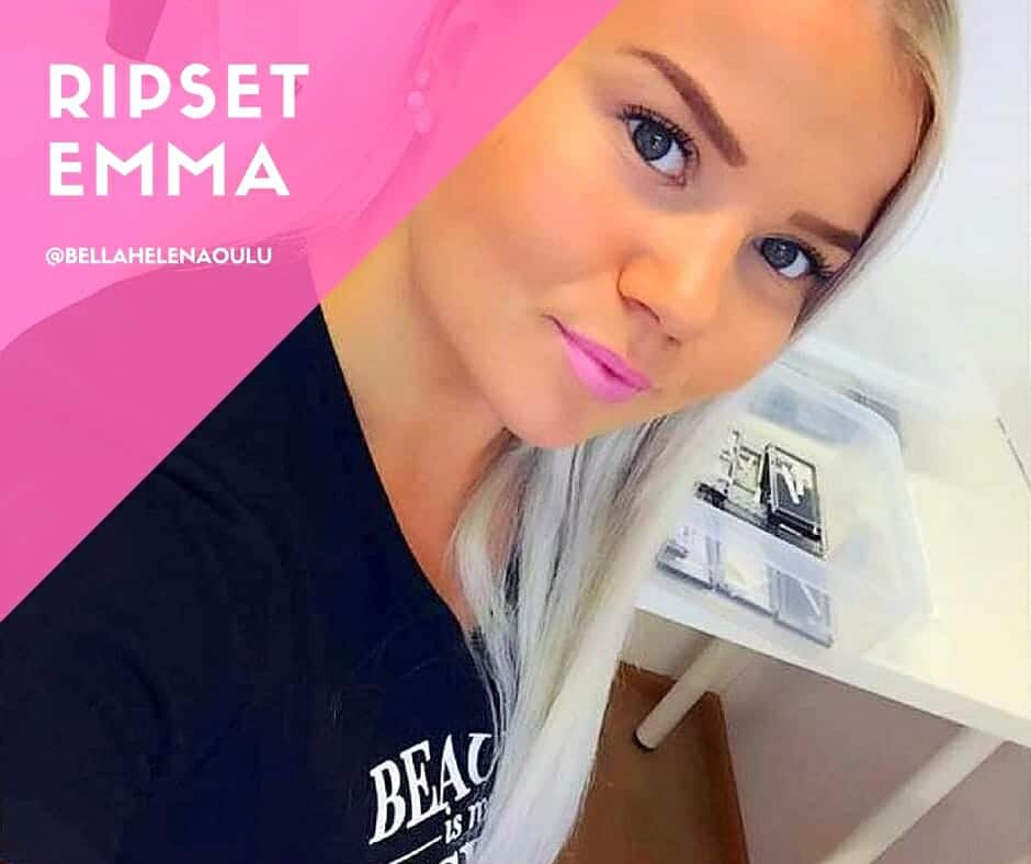 Facebook post Kauneushoitola BellaHelena Ripset Emma 2016