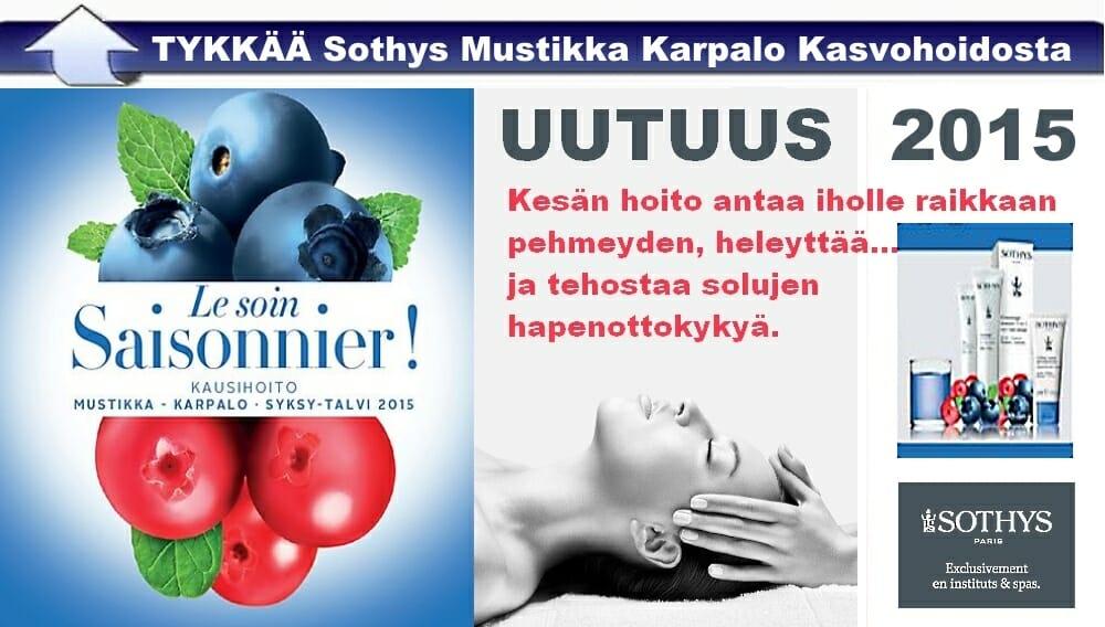 UUTUUS-Sothys-Mustikka-Karpalo-Kasvohoito-BellaHelena-Oulu