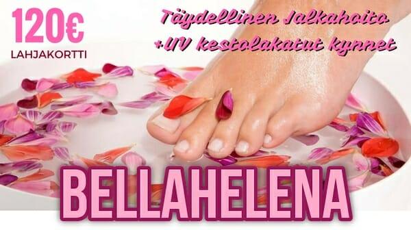 004 Lahjakortit BellaHelena Kaleva Nappaa.fi mainos 2016 täydellinen jalkahoito plus varpaat - Jalat Kuntoon Kesäksi Varaa Aika Jalkahoitoon