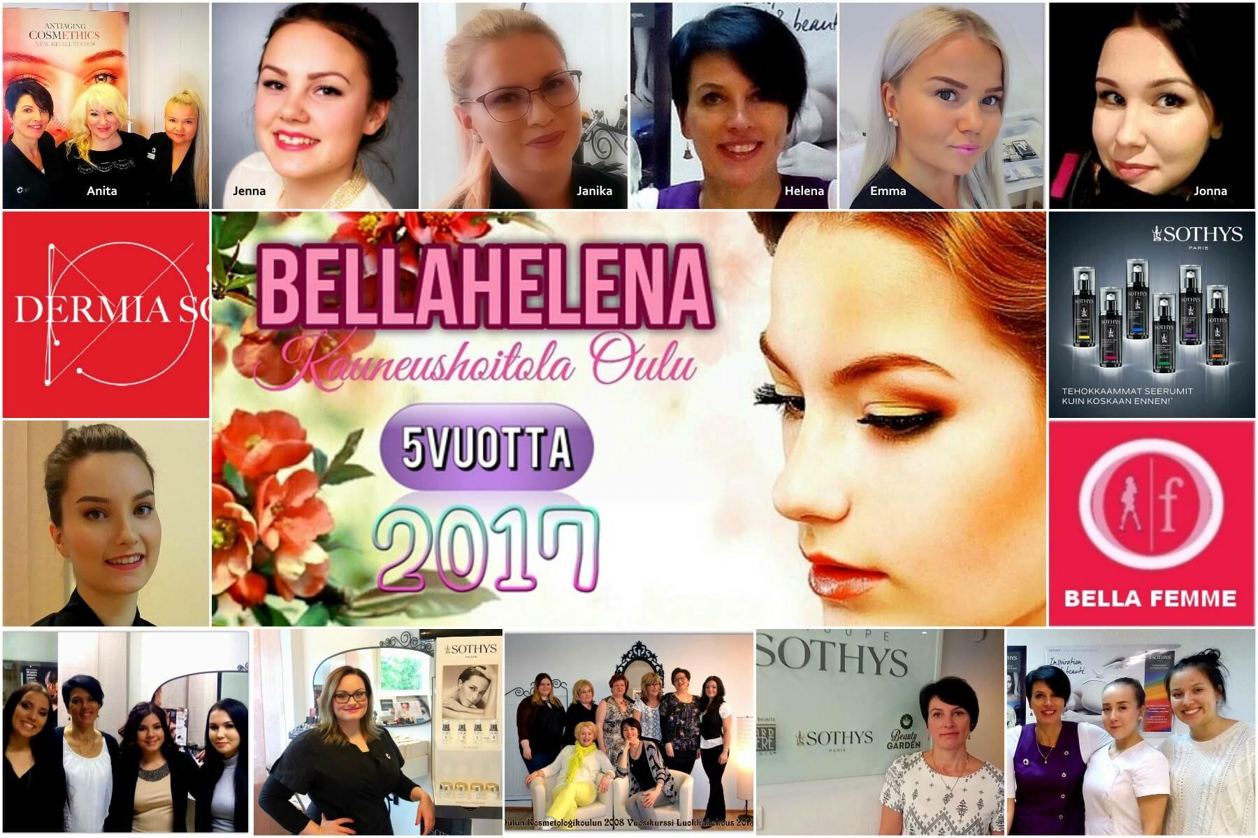 Kauneushoitola BellaHelena 2017 BeFanky cover 5 years 01.11.2017 Helena & Paris Oy Oulu