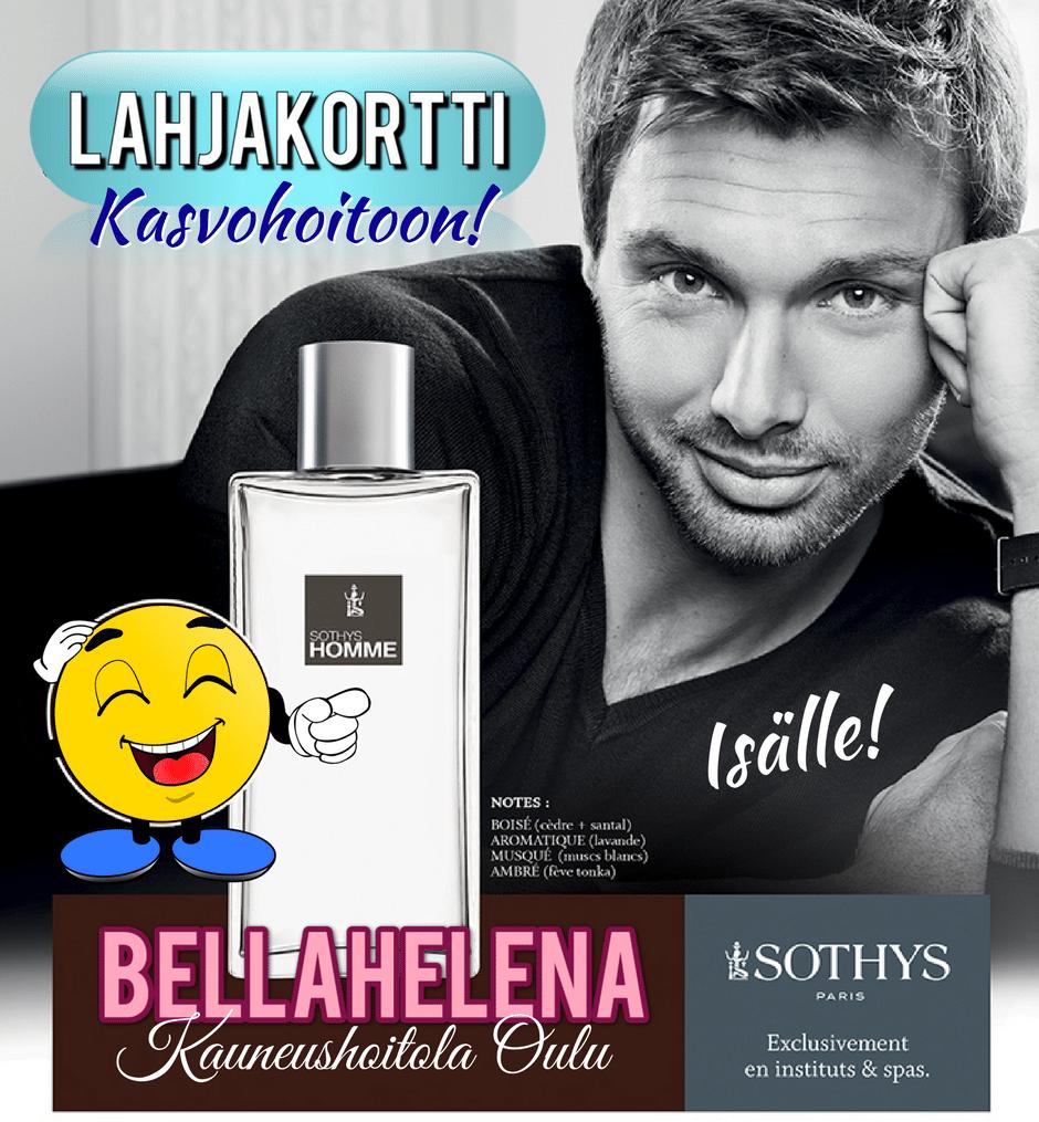 Kauneushoitola BellaHelena Oulu Isänpäivä 2017 Facebook postaus 940x1015 Sothys Homme Helena & Paris Oy Suomi 100 Finland