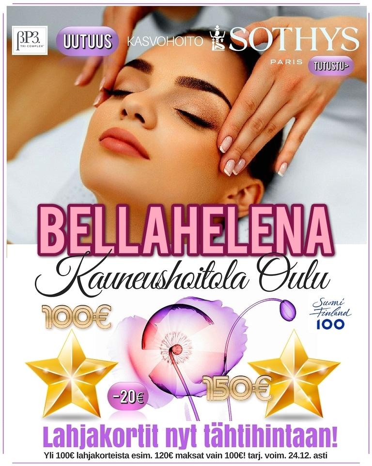 eKaleva Interstitiaali mainos 768x960px small Kauneushoitola BellaHelena joulukuu 2017 Helena & Paris Oy Desing by Markku Tauriainen Suomi 100