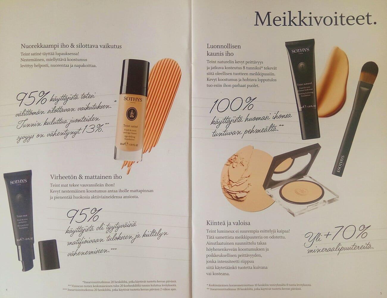 Sothys MakeUp Esite 2018 sivu 03 Kauneushoitola BellaHelena Oulu Helena & Paris Oy Helena ja Markku Tauriainen Suomi 100 Finland