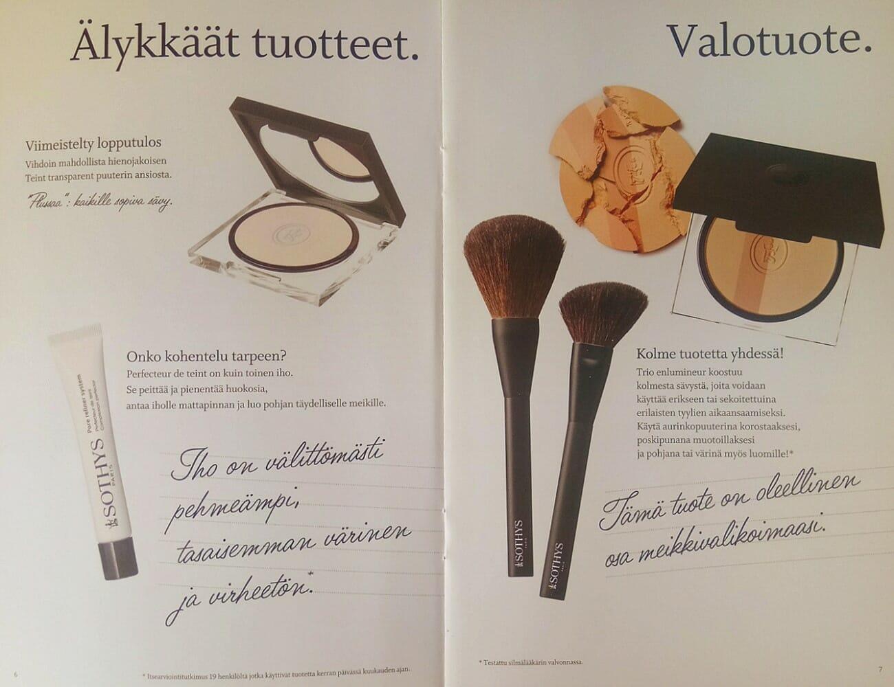 Sothys MakeUp Esite 2018 sivu 04 Kauneushoitola BellaHelena Oulu Helena & Paris Oy Helena ja Markku Tauriainen Suomi 100 Finland