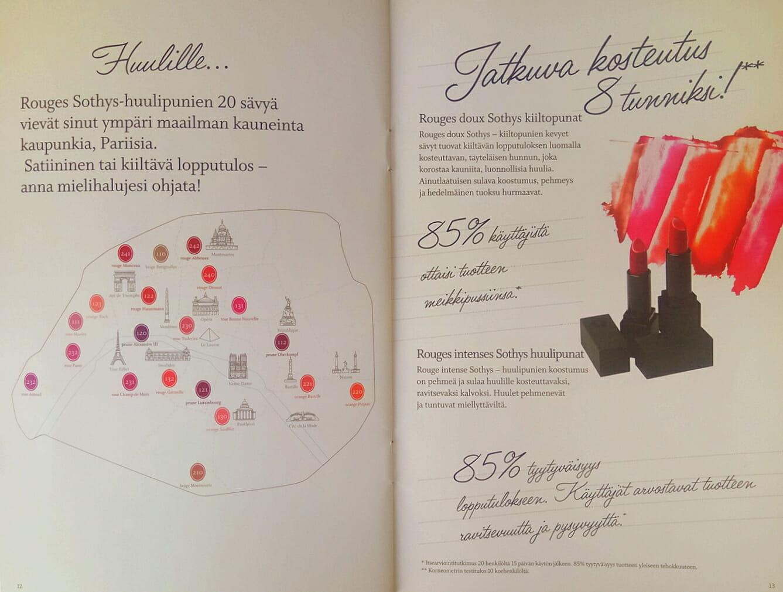 Sothys MakeUp Esite 2018 sivu 07 Kauneushoitola BellaHelena Oulu Helena & Paris Oy Helena ja Markku Tauriainen Suomi 100 Finland