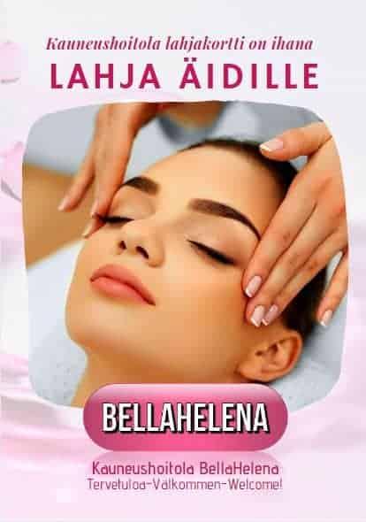 Muista Äitiä Lahjakortilla BellaHelenan lahjakortti on ihana lahja BellaHelena Lahjakorttijuliste