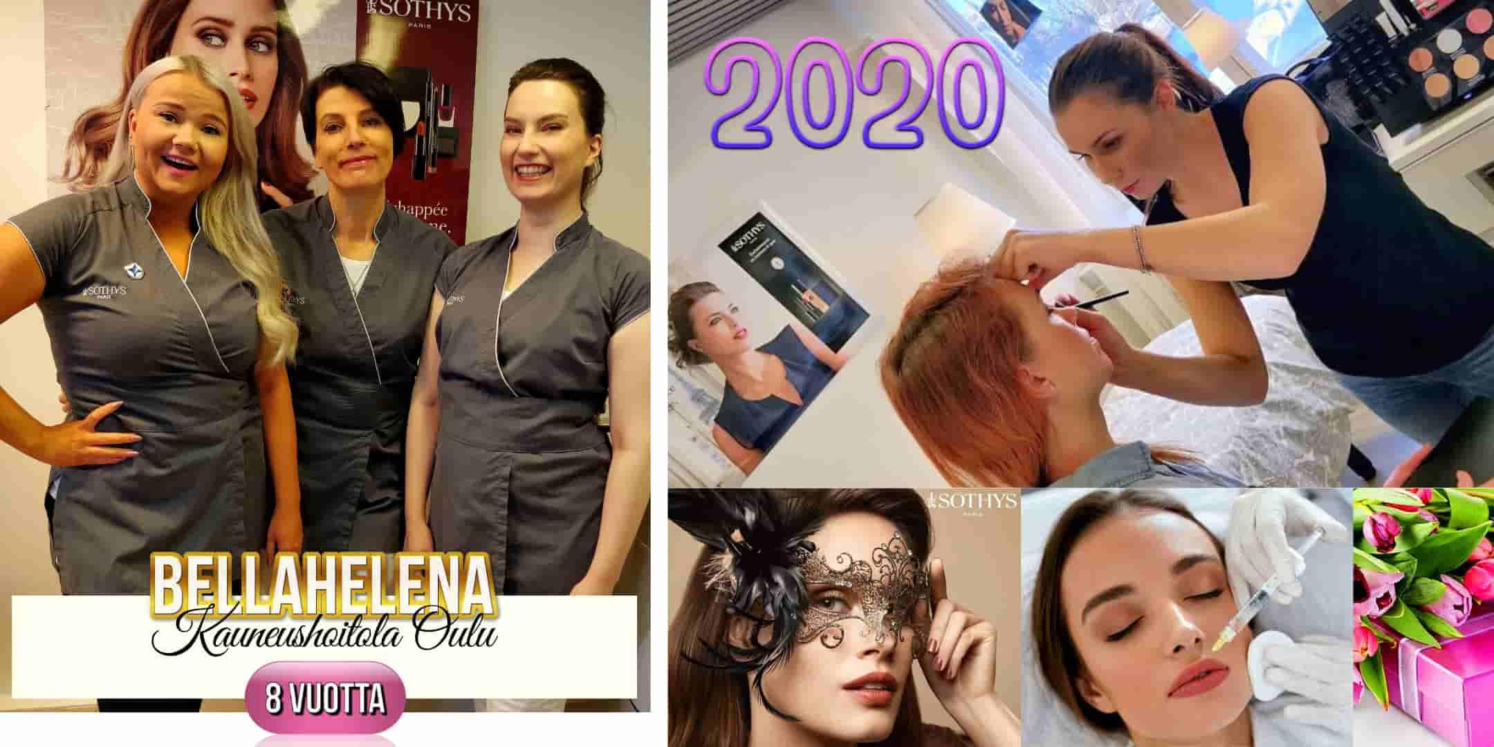 Kauneushoitola BellaHelena Oulu 8 Vuotta Perjantaina 30.10.2020 kaksi meikkaajaa