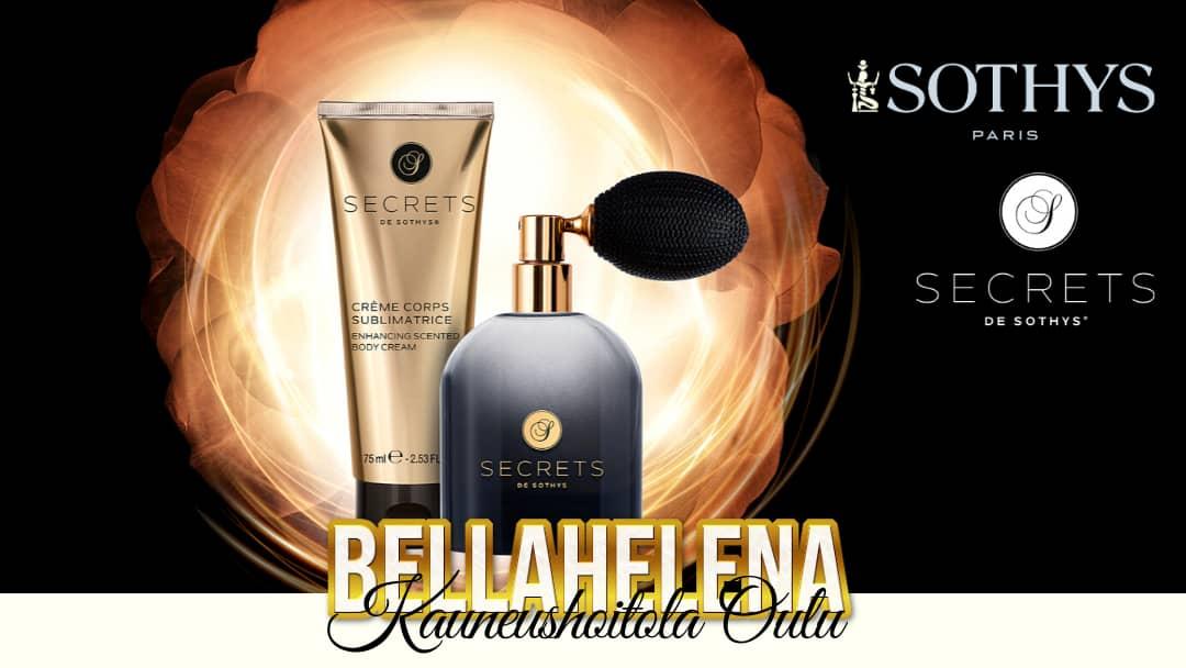 Lumoavan Ihana Kasvohoito Secrets de Sothys Tuotteet Eau de Parfum Vartalovoide Kauneushoitola BellaHelena Oulu Blog Post Image